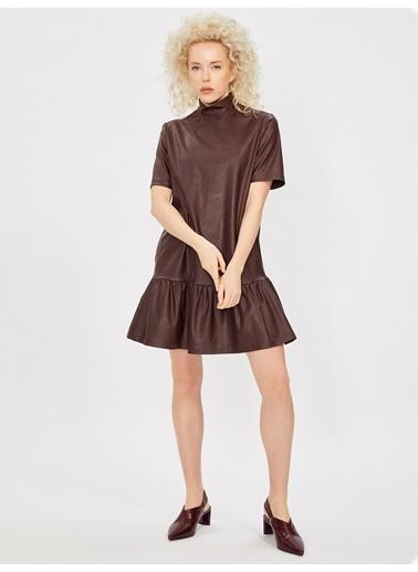 Vekem-Limited Edition Elbise Bordo